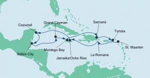 Route Karibik und Mexiko 1