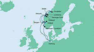 Route Norwegens Fjorde