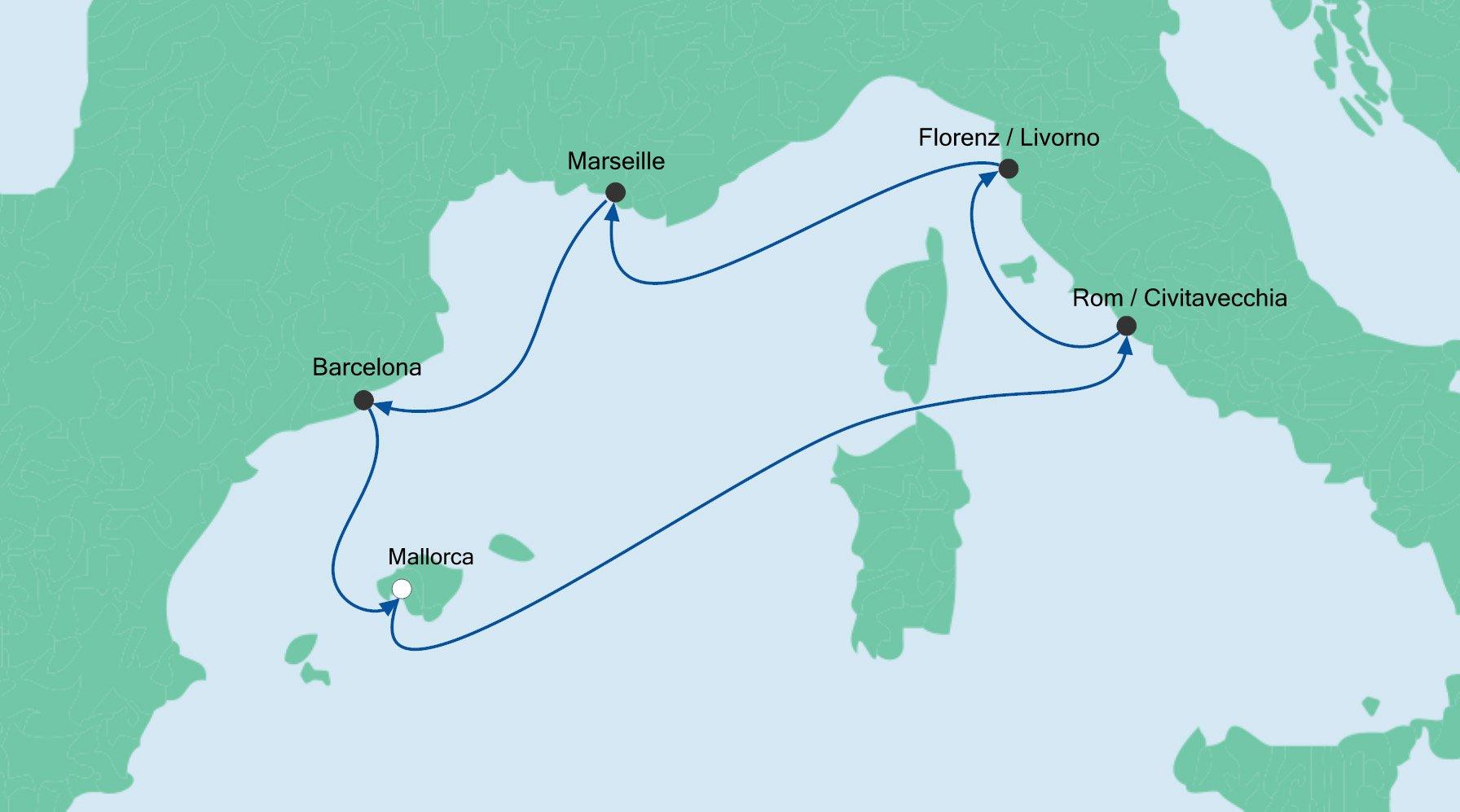 Route Perlen am Mittelmeer 3